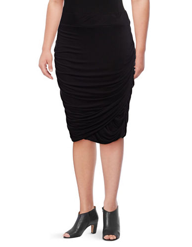 Rebel Wilson Jersey Twist Skirt-BLACK BEAUTY-2X