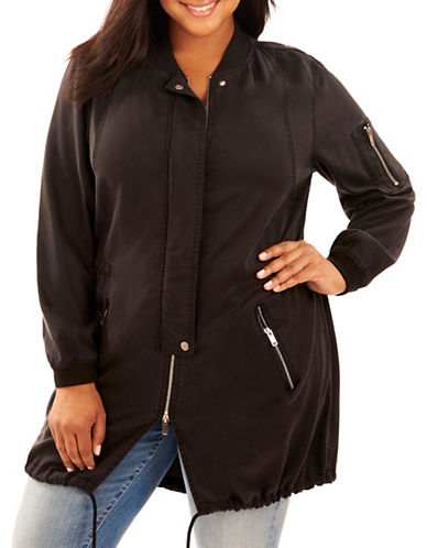 Rebel Wilson Long-Sleeve Anorak-BLACK-1X