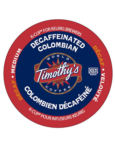 Keurig 18-Pack Timothys Decaffeinated Colombian K-Cups-NO COLOUR-One Size 84928638_NO COLOUR_One Size