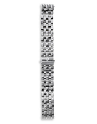 Michele Slim Stainless Steel Watch Strap-SILVER-One Size
