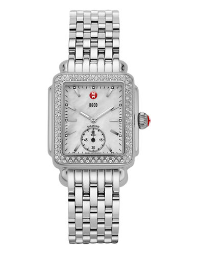 Michele Signature Deco Watch-SILVER-One Size