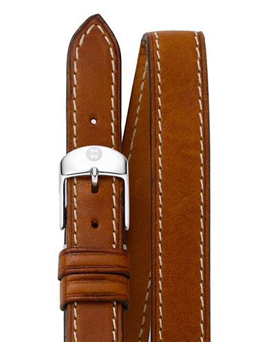Michele CSX Double-Wrap Watch Strap-BROWN-One Size