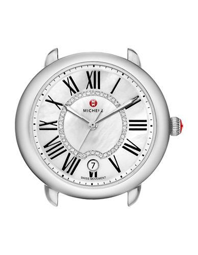 Michele Analog Serein 16 Stainless Steel Diamond Watch Head-SILVER-One Size