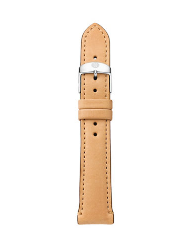 Michele Leather Watch Strap-BROWN-One Size