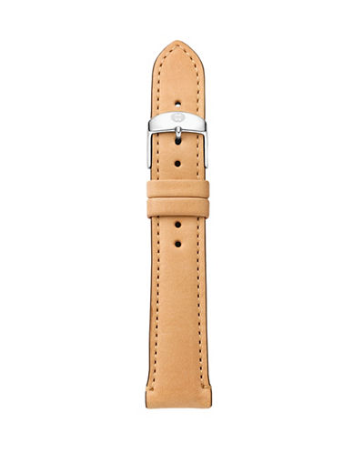 Michele Leather Watch Strap-BEIGE-One Size