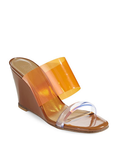 Maryam Nassir Zadeh Olympia Two-Band Wedges-ORANGE-EUR 39/US 9