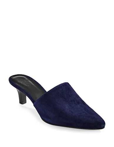 Maryam Nassir Zadeh Pointed Toe Leather Mules-NAVY-EUR 37.5/US 7.5
