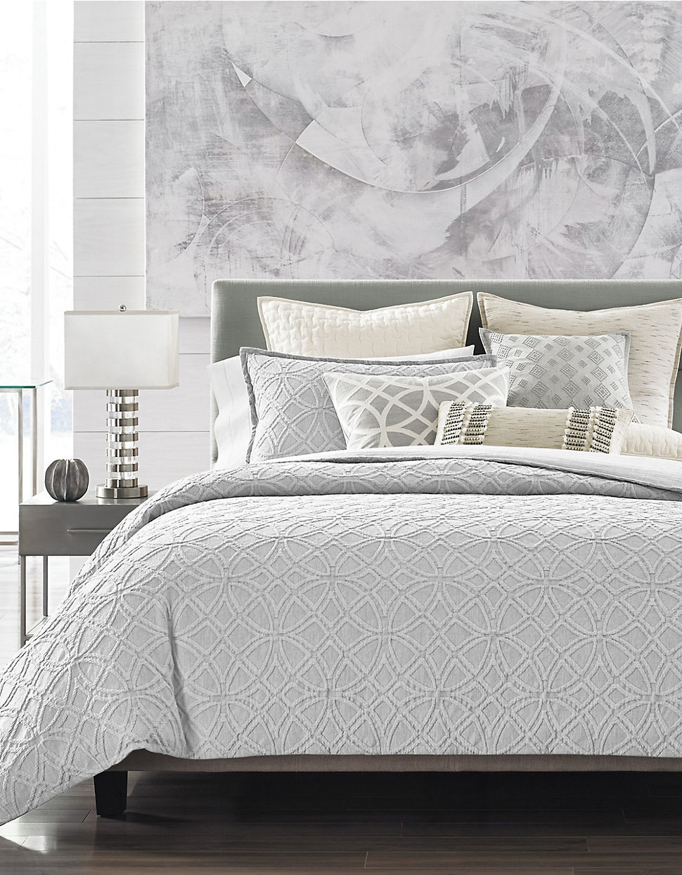 Navy blue and tan bedding - Connection Bedding Collection