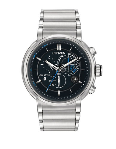 Citizen Eco-Drive Proximity Stainless Steel Multi-Function Bracelet Watch BZ1000-54E-SILVER-One Size