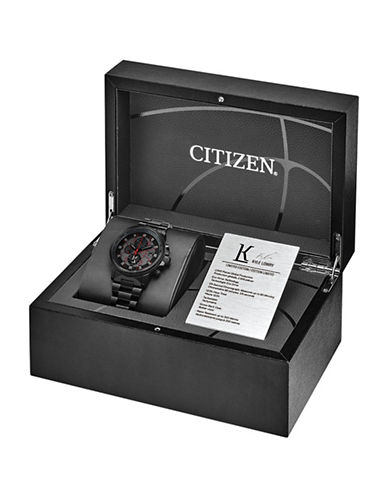 Citizen Chronograph Kyle Lowry Limited Edition Nighthawk Black Bracelet Watch-BLACK-One Size