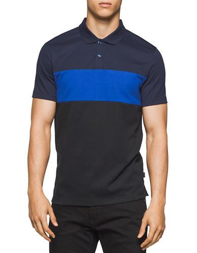 Calvin Klein Liquid Cotton Interlock Polo Shirt-WHITE-Small