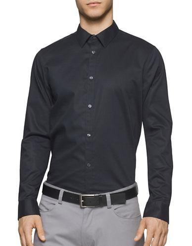 Calvin Klein Infinite Cool Textured Sport Shirt-GREY-X-Large