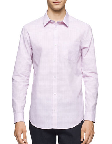 Calvin Klein Infinite Cool Square Print Sport Shirt-PINK-Small