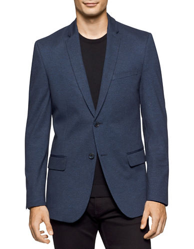 Calvin Klein Melange Slim-Fit Sports Jacket-BLUE-X-Large 88717721_BLUE_X-Large