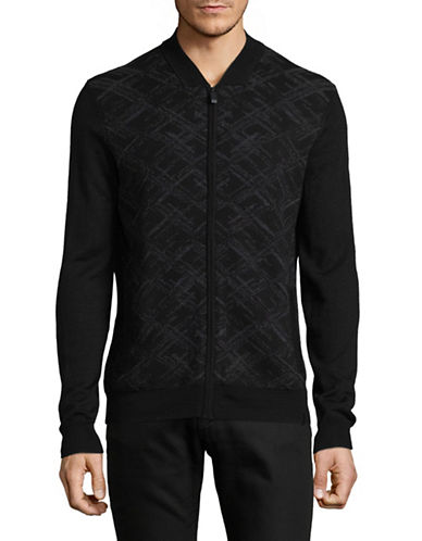 Calvin Klein Brush Cardigan-BLACK-Large