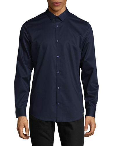 Calvin Klein Infinite Non-Iron Dress Shirt-NAVY-Small