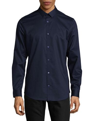 Calvin Klein Infinite Non-Iron Dress Shirt-NAVY-X-Large