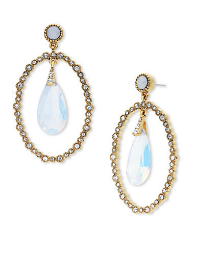 Jenny Packham Orbital Stone Drop Earrings-WHITE-One Size