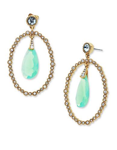 Jenny Packham Orbital Stone Drop Earrings-GREEN-One Size