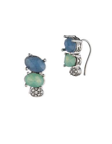 Jenny Packham Stone Accented Ear Crawler Earrings-BLUE-One Size