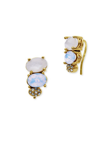 Jenny Packham Multi-Stone Crawler Earrings-WHITE-One Size
