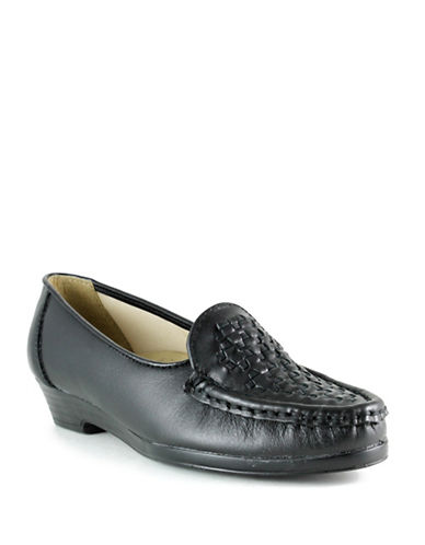Softspots Constance Leather Loafers-BLACK-10