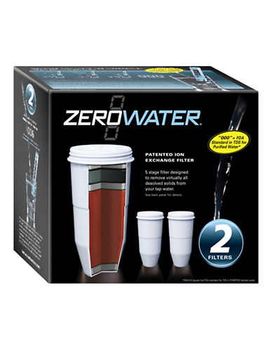 Zerowater 2 Pack Filters-WHITE-One Size