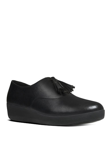 Fitflop Classic Tassel-Lace Leather Superoxford Shoes-BLACK-5