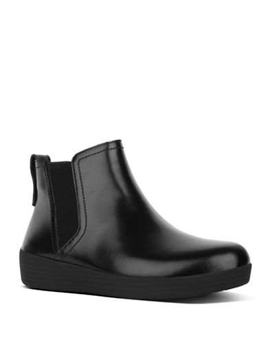 Fitflop Skinny Leather Chelsea Boots-BLACK-5