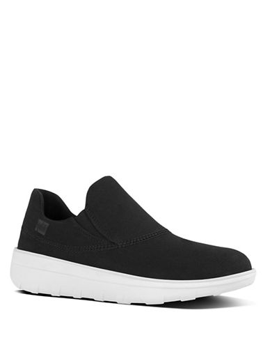 Fitflop Sporty Slip-On Canvas Sneakers-BLACK-8