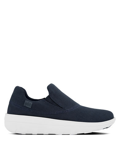 Fitflop Sporty Slip-On Canvas Sneakers-NAVY-8.5