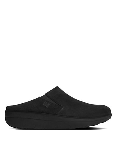 Fitflop Loaff Suede Clogs-BLACK-8