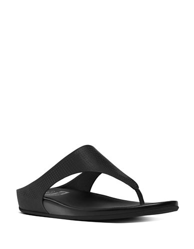 Fitflop Banda TM Perforated Thong Sandals-BLACK-8