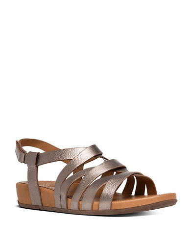 Fitflop Lumy Leather Sandals-BRONZE-6