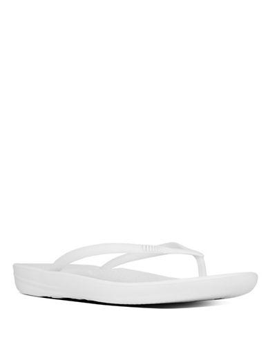 Fitflop Iqushion Super-Ergonomic Flip-flops-WHITE-6