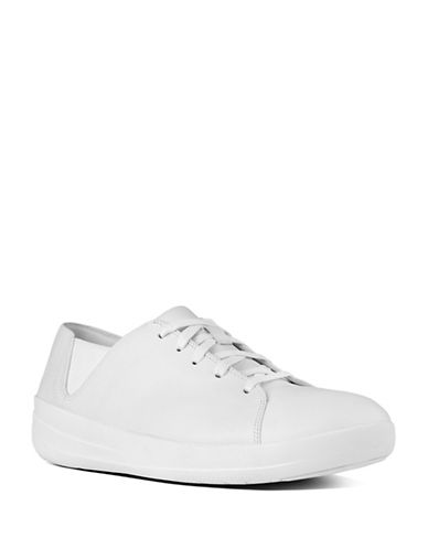 Fitflop Womens F-Sporty Uberknit Sneakers-WHITE-7.5