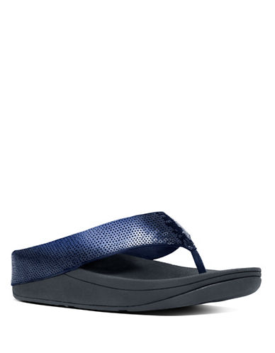 Fitflop Ringer Superlight Sequin Flipflops-NAVY-6