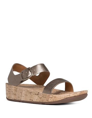 Fitflop Bon Leather Sandals-BRONZE-5