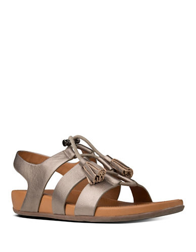 Fitflop Gladdie Leather Lace-Up Gladiator Sandals-BRONZE-6