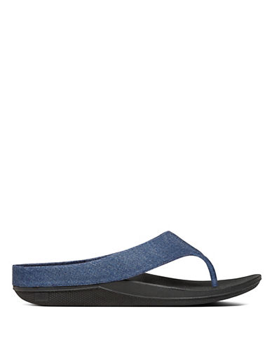 Fitflop Ringer Denim Toe Thong Sandals-DENIM-7