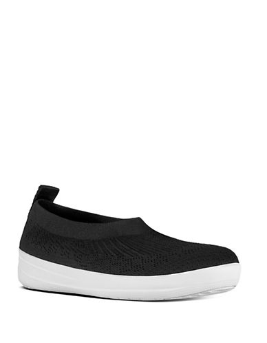 Fitflop Uberknit Slip-On Ballerinas-BLACK-11