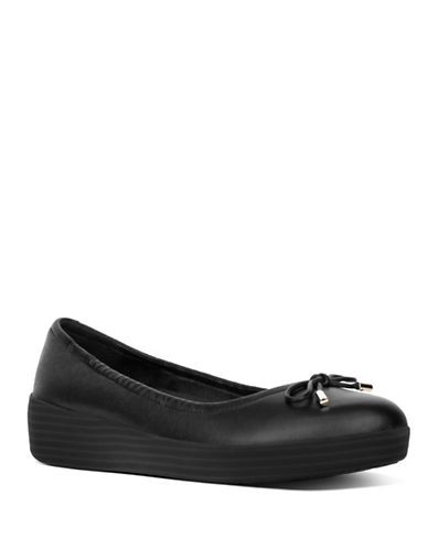 Fitflop Superbendy Leather Flats-BLACK-9