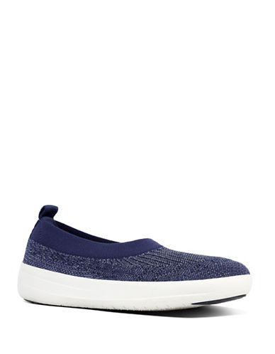 Fitflop Slip-On Ballerina Sneakers-NAVY-7