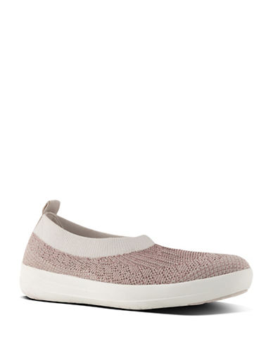Fitflop Womens Uberknit Slip-On Sneakers-ROSE GOLD-7
