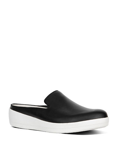Fitflop Superskate Slip-on Leather Mules-BLACK-10