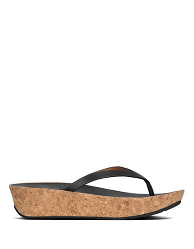 Linny Leather Flip Flops by Fitflop