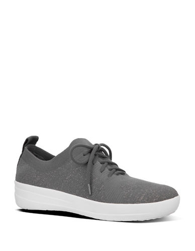 Fitflop Womens F-Sporty Uberknit Sneakers-DARK GREY-5