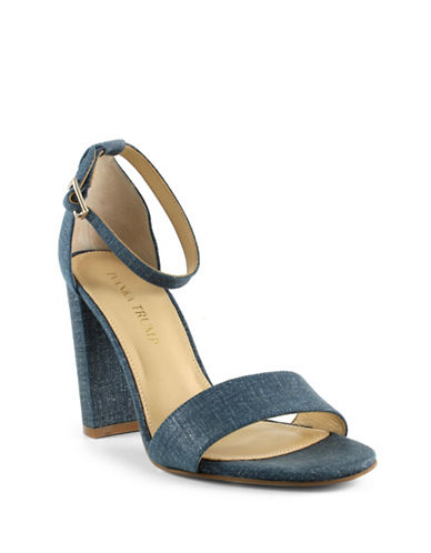 Ivanka Trump Klover2 Madison Suede Slingback Sandals-DENIM-8.5