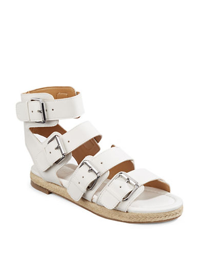 Kendall + Kylie Jackie Flat Gladiator Sandals-WHITE-7.5