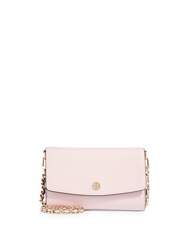 Tory Burch Fold-Over Crossbody Bag-PINK-One Size